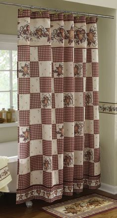 Country Stars & Hearts Bathroom Shower Curtain | For the bathroom ...