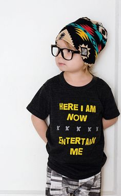 -Printed on American Apparel Tri-Blend black tees. Super soft! -Infant and bigger child sizes-Made with extra RAD.-Ready to ship in approximately 3-5 daysPhotog