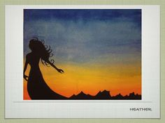 Sunset Silhouette Watercolor Lesson - A Space to Create Kids Watercolor, Watercolor Lesson, Watercolor Flowers, Sunset Silhouette, Middle School Art, High School, Art Party, Art Education, Diy Art