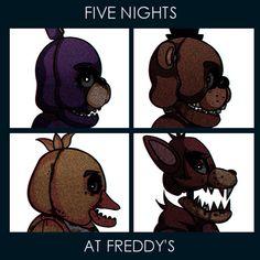 Five nights at Freddy's Gorillaz- demon days crossover.