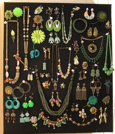 Our shop has an ever changing array of color coded jewelry boards. If you're interested in anything on the green board, follow the pin to our Facebook page and drop us a line.