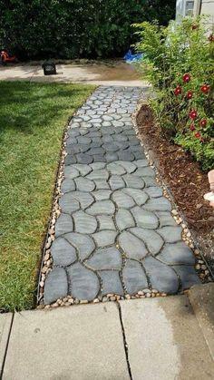 Garden Supplies Impartial Garden Path Maker Mold Reusable Concrete Cement Stepping Stone Design Paver Walk Mould Diy Plastic Brick Mold Home Garden Tools