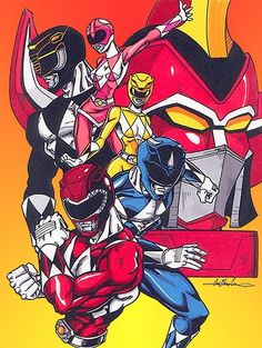mighty morphin power rangers by ~Gonzo1701 on deviantART