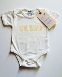 Home Brewed Baby, Boy, Girl, Unisex, Infant, Toddler, Newborn, Organic, Bodysuit, Outfit, One Piece, Onesie   Urban Baby Co.