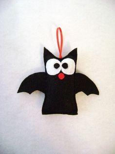 Bertie the Bat - Felt Hand Stitched Ornament