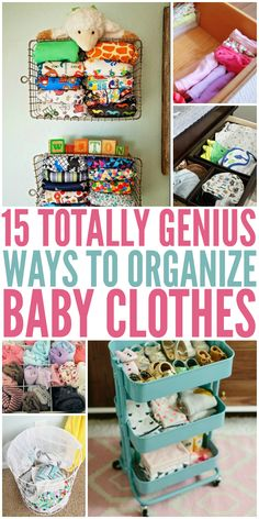 Know a new mom??  She needs these tip  15 TOTALLY GENIUS WAYS TO ORGANIZE BABY CLOTHES  So cute, small, and really hard to keep track of!!