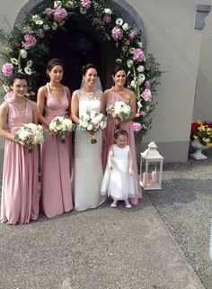 Eliza and Ethan bridesmaid dresses in Dusky Rose