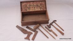 Antique Circa 1920's Boys Union Tool Chest No 45 Bliss Oak Box,Plus Tools,RARE #UNIONTOOLCHEST