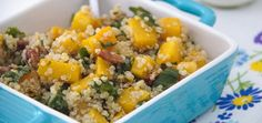 I love taking time on the weekend to prepare dishes that will make healthy meal options easier throughout the week. This quinoa salad is one of my favorites! My husband and I make it on a Sunday,