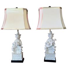 WHIMSICAL PAIR OF ITALIAN  MONKEY LAMPS