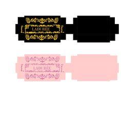 Toni Ellison: Ladurée Macarons and Chocolate. Miniature Printables - Candy Box.