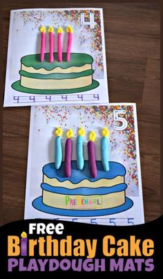 FREE Birthday Cake Playdough Mats – fun, hands on math activity for practicing counting to writing numbers and strengthening fine motor skills. Fun kids activities for toddler, preschool, kindergarten, and prek age kids. - Education and lifestyle Playdough Activities, Counting Activities, Fun Activities For Kids, Birthday Activities, Birthday Crafts, Free Birthday, Preschool Birthday Board, Birthday Recipes, Preschool Learning
