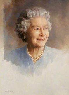 What a perfectly lovely portrait!  Her Majesty Queen Elizabeth II (b.1926) Tony Butler