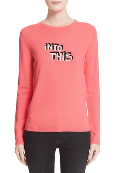 Aria: Intarsia Knit Crewneck Wool Sweater by Bella Freud on @nordstrom_rack