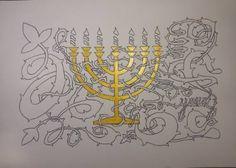 "Saatchi Art Artist Yehouda Morin - YOUD; Drawing, ""BLANODO Menorah"" #art"