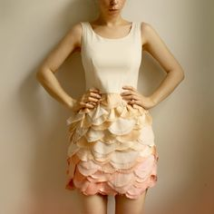 So pretty! Dallyce Petal cocktail summer dress by Leanimal. $468.00.