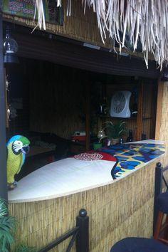 Homemade Surfboard Bar Top