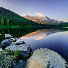 Trillium Lake, Oregon. By: Jonathan Basiago