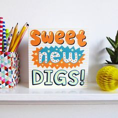 Funny New Home Card Happy New Home Card / Housewarming Card / JosieGledhillDesign on Etsy