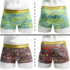 New  Mens Cotton Boxers Underwear Printing Grid Mens Sexy Fashion Underpants