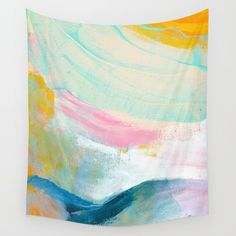 Abstract landscape by artist Shara Mays. Available on many products on society6.com. #society6 #society6art #society6artist #abstractart #california #homedecor #throwpillow