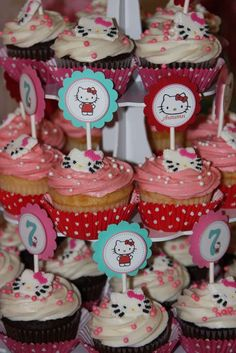 Hello Kitty Cupcakes Considering doing a Hello Kitty party for