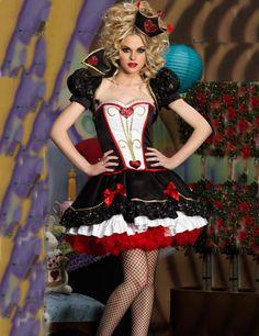 Halloween Pageant Wear Deluxe Queen of Hearts Women Costume Halloween Fancy Dress Alice in Wonderland Halloween Fashion, Halloween Fancy Dress, Halloween Outfits, Halloween Costumes, Halloween Queen, Halloween Parties, Women Halloween, Adult Halloween, Halloween Horror