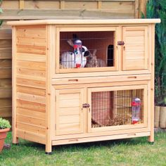 Trixie's 2-Story Rabbit Hutch Light Brown.  For Lavy but would be indoors instead of outdoors.