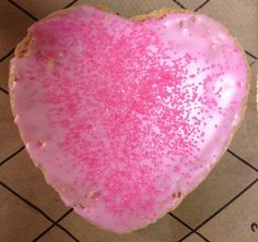 Prettiest pink cookie from my colleague!!!!