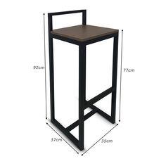 Wood Furniture Legs, Welded Furniture, Iron Furniture, Steel Furniture, Home Decor Furniture, Industrial Furniture, Furniture Design, Metal Bar Stools, Metal Chairs