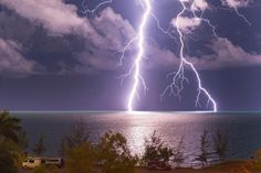 Lightning from Nightcliff, Northern Territory.