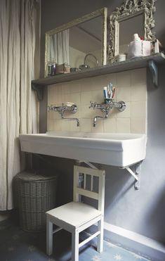 Lavabo collectif duo maison bord de mer salle de bain - Robinetterie jacob delafon salle de bain ...
