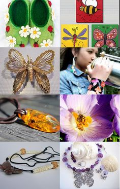 What's buggin' you? If you need a diversion, you just might like this bug-inspired #Etsy #treasury! #butterfly #dragonfly #bee #wasp #ladybug #jewelry #necklace #bracelet #spider #wreath #photography #slippers--Pinned with TreasuryPin.com