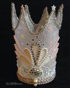 Glittering Glinda crown handmade wizard of oz by EverTheDream