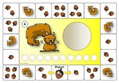 Preschool Math Games, Montessori Math, Craft Activities, Autumn Activities For Kids, Games For Kids, Diy For Kids, English Grammar For Kids, Kids English, Scaredy Squirrel
