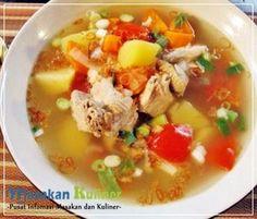 Resep Sup Ayam Kampung  Bosen bikin ayam bakar atau ayam goreng terus ? Bikin resep sup ayam kampung yuk. Dijamin resep dan bahan-bahannya mudah dicari.