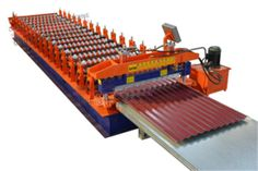 #Barrel #Corrugated #Roofing #Sheet #Roll #Forming #Machine is produce material thickness 0.15-0.4mm. Some countries need thin thickness corrugated sheet,and normal corrgated roll forming machine can not true it,so we are searching and developing barrel corrugated roll forming machine.