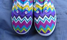 our take on DIY tutorial--perfect for camp Arts And Crafts, Diy Crafts, Shoe Art, Sock Shoes, Dandy, Missoni, Clothing Items, Diy Tutorial, Pants For Women
