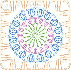 Transcendent Crochet a Solid Granny Square Ideas. Inconceivable Crochet a Solid Granny Square Ideas. Crochet Motifs, Crochet Blocks, Granny Square Crochet Pattern, Crochet Mandala, Crochet Diagram, Crochet Chart, Crochet Squares, Crochet Granny, Crochet Blanket Patterns