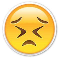 Persevering Face   EmojiStickers.com