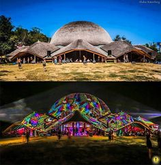 Ozora Festival--day and night. Oh my