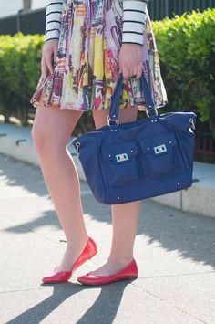 Britt+Whit: Whit's cute casual bag and flats