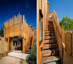 Stick House Victorian terrace by PHOOEY Architects-Sustainable Aesthetic Home design Green Architecture, Sustainable Architecture, Architecture Design, Passive House Design, Passive Solar Homes, Nest Building, Home Structure, Solar House, Victorian Terrace