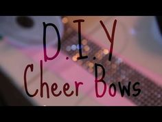 ▶ DIY Cheer Bows - YouTube
