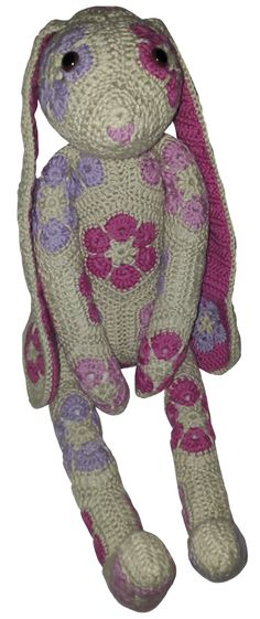 Ravelry: Alicia the Rabbit - African Flower pattern by My Moonlights Design