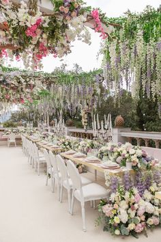 Have you ever seen a more romantic wedding reception setting? So much thought went into the decor for this wedding dinner held on the Romantic Wedding Receptions, Wedding Dinner, Garden Wedding, Wedding Venues, Wedding Table, Orange Wedding, Wedding Colors, Wedding Styles, Wedding Themes