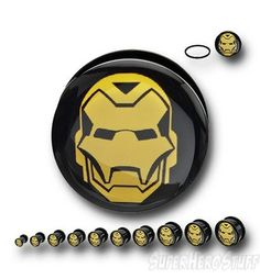 Images of Iron Man Helmet Acrylic Screw Fit Plugs