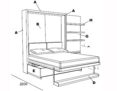 atoll 000 wall bed with sofa murphy