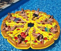 Swimline Pool Pizza Slice Pool Float - Finally someone combined your two favorite things in this Swimline Pool Pizza Slice Pool Float . This pizza-shaped inflatable pool float is made of colorful. Pizza Pool Float, Piscine Diy, Cool Pool Floats, Pool Floats For Kids, Inflatable Float, Giant Inflatable, Milk Shakes, My Pool, Pool Fun