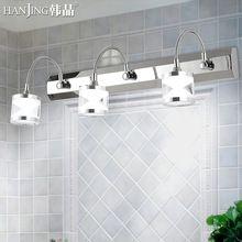 Han Jing criativo LED farol lente lâmpada moderna casa de banho vaidade do banheiro do armário lâmpada de cristal à prova de aço inoxidável(China (Mainland))